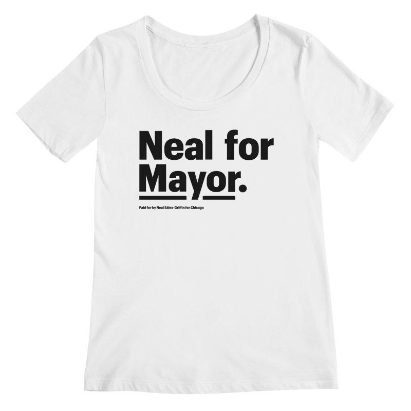 Neal for Mayor Women's Regular Scoop Neck by We Are Mayor | Neal For Mayor