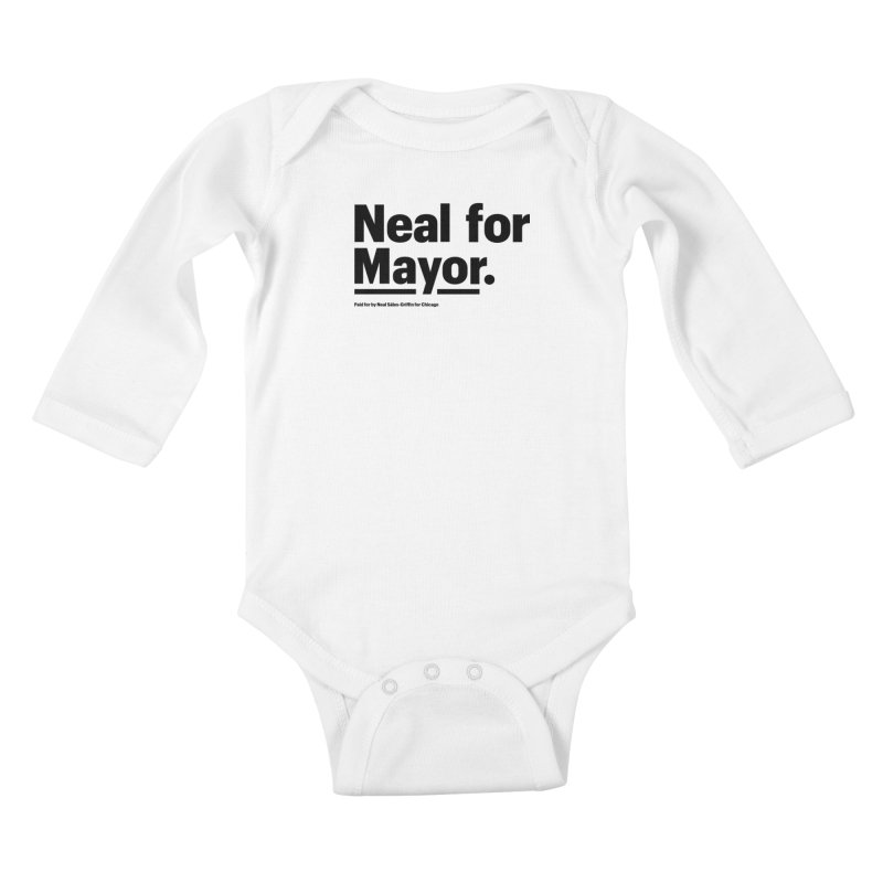 Neal for Mayor Kids Baby Longsleeve Bodysuit by We Are Mayor | Neal For Mayor