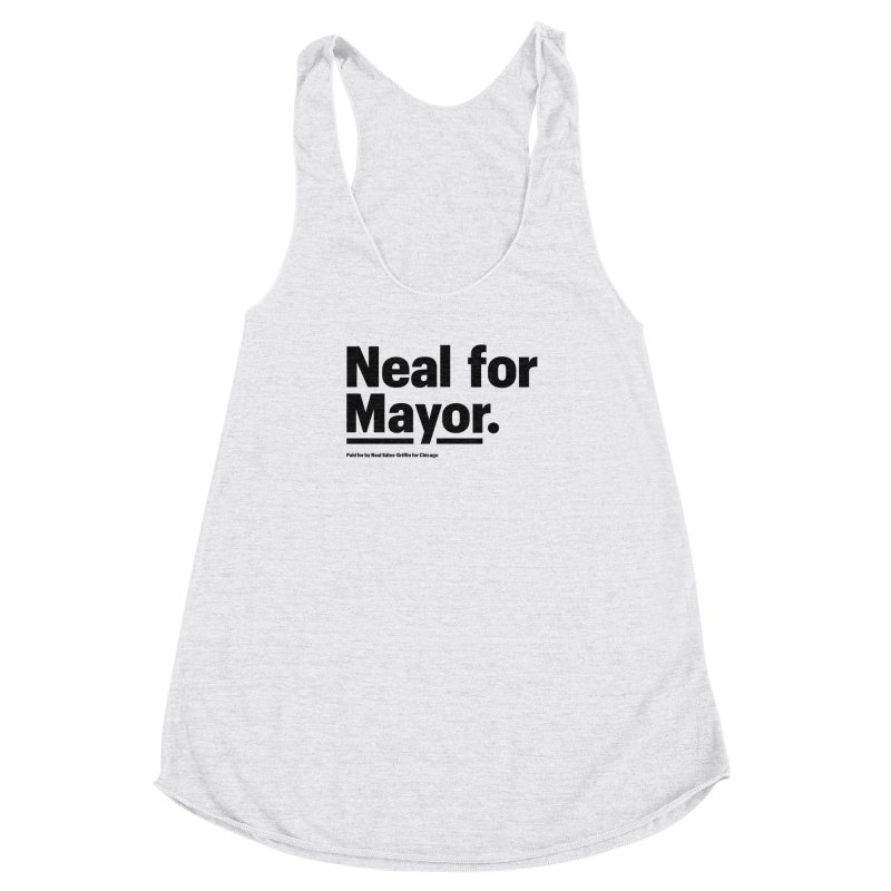 Neal for Mayor Women's Racerback Triblend Tank by We Are Mayor | Neal For Mayor
