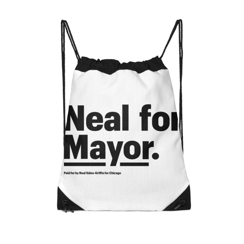 Neal for Mayor Accessories Drawstring Bag Bag by We Are Mayor | Neal For Mayor