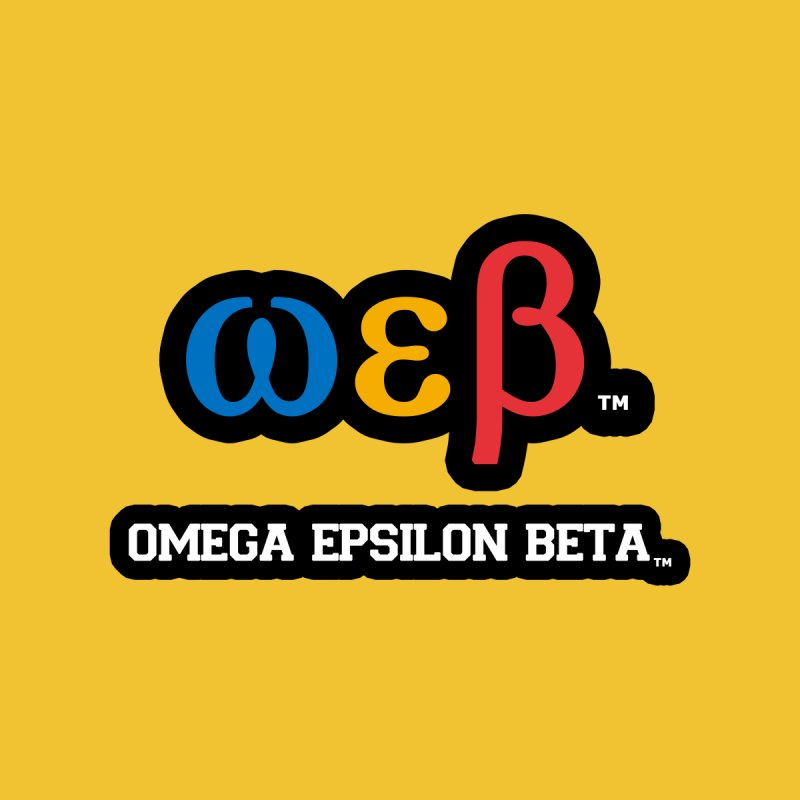 OMEGA EPSILON BETA™ | omegaepsilonbeta.com Men's Sweatshirt by WebBadge Merch Shop