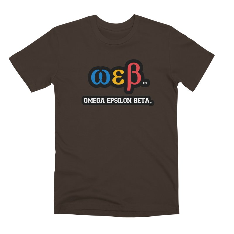 OMEGA EPSILON BETA™ | omegaepsilonbeta.com Men's Premium T-Shirt by WebBadge Merch Shop