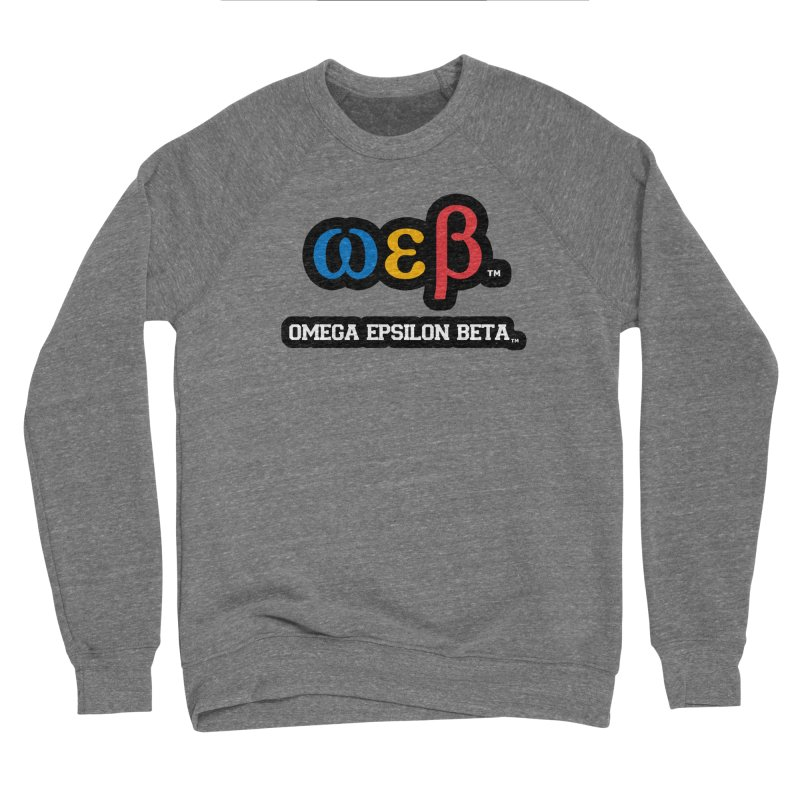 OMEGA EPSILON BETA™ | omegaepsilonbeta.com Men's Sponge Fleece Sweatshirt by WebBadge Merch Shop