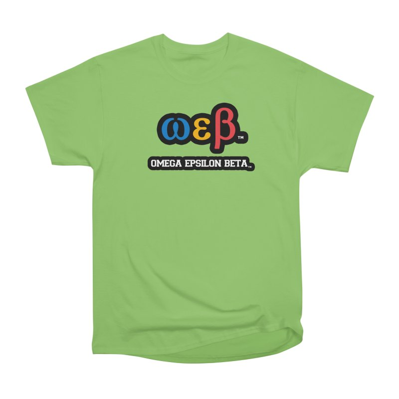 OMEGA EPSILON BETA™   omegaepsilonbeta.com Women's Heavyweight Unisex T-Shirt by WebBadge Merch Shop