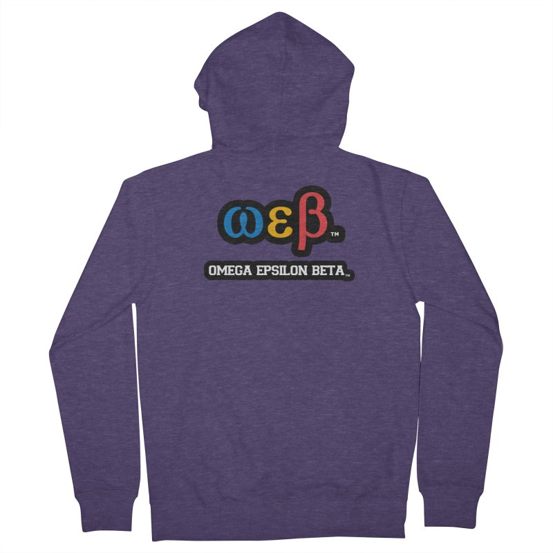 OMEGA EPSILON BETA™ | omegaepsilonbeta.com Men's French Terry Zip-Up Hoody by WebBadge Merch Shop
