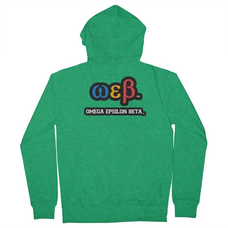 OMEGA EPSILON BETA™ | omegaepsilonbeta.com Men's Zip-Up Hoody by WebBadge Merch Shop