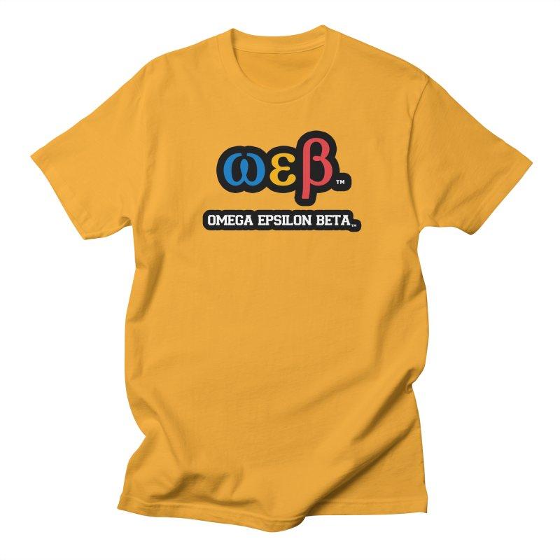 OMEGA EPSILON BETA™   omegaepsilonbeta.com Men's T-Shirt by WebBadge Merch Shop
