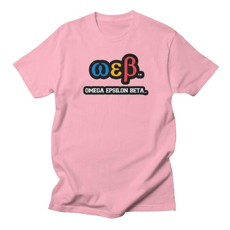 OMEGA EPSILON BETA™ | omegaepsilonbeta.com Men's T-Shirt by WebBadge Merch Shop