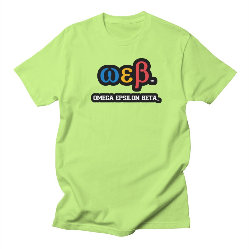 OMEGA EPSILON BETA™ | omegaepsilonbeta.com Men's T-Shirt by WebBadge Merch Shop