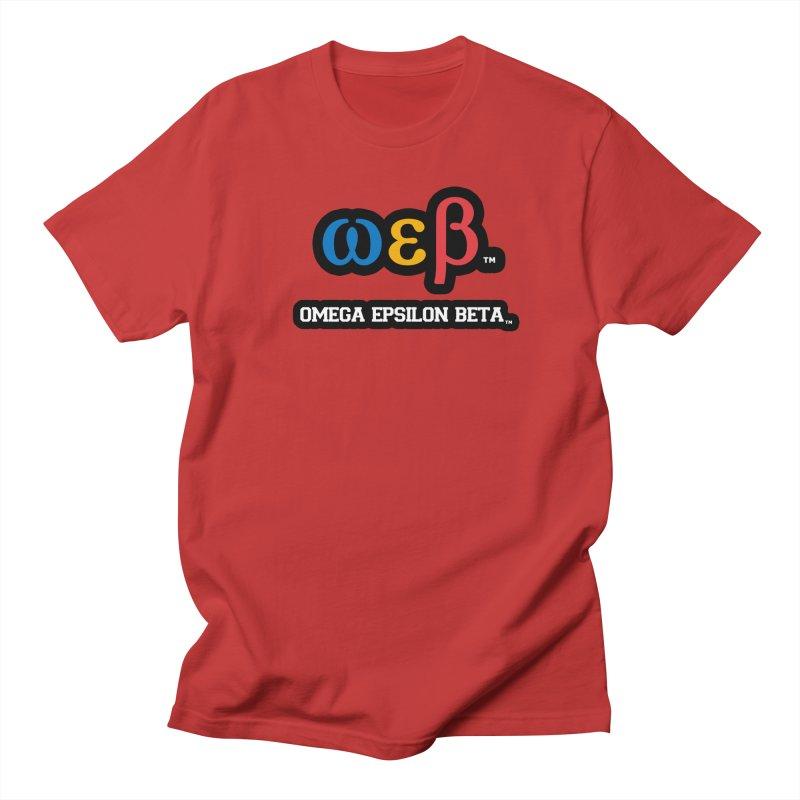 OMEGA EPSILON BETA™ | omegaepsilonbeta.com Men's Regular T-Shirt by WebBadge Merch Shop