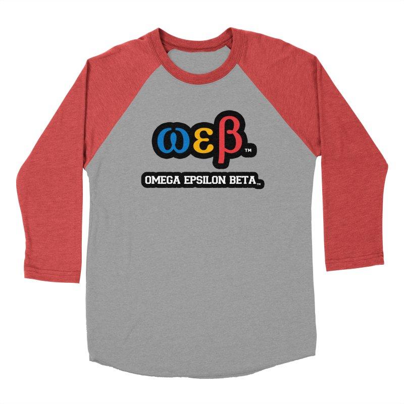 OMEGA EPSILON BETA™ | omegaepsilonbeta.com Women's Baseball Triblend Longsleeve T-Shirt by WebBadge Merch Shop