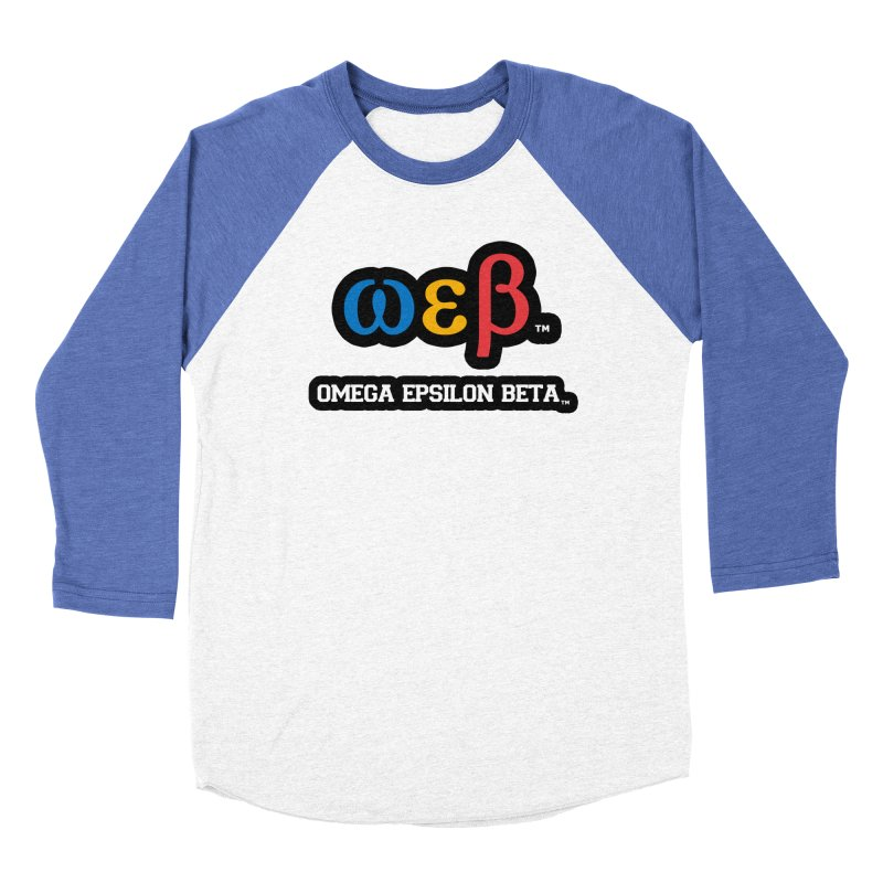 OMEGA EPSILON BETA™ | omegaepsilonbeta.com Men's Baseball Triblend Longsleeve T-Shirt by WebBadge Merch Shop