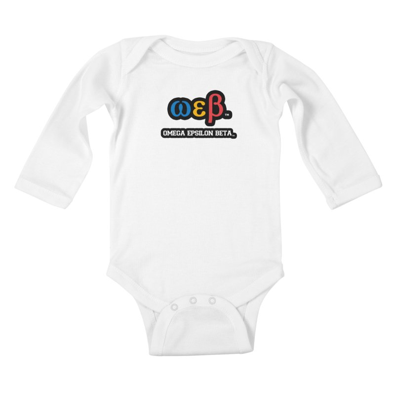 OMEGA EPSILON BETA™ | omegaepsilonbeta.com Kids Baby Longsleeve Bodysuit by WebBadge Merch Shop