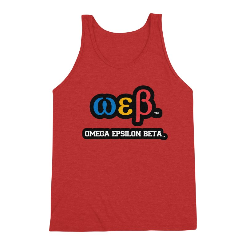 OMEGA EPSILON BETA™ | omegaepsilonbeta.com Men's Triblend Tank by WebBadge Merch Shop