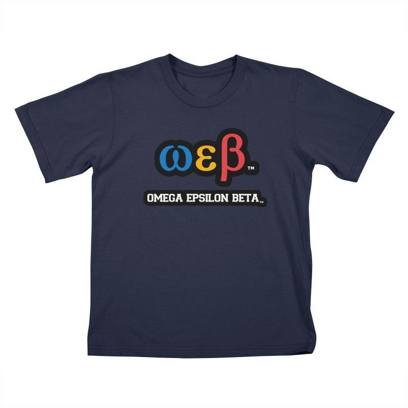 OMEGA EPSILON BETA™ | omegaepsilonbeta.com Kids T-Shirt by WebBadge Merch Shop
