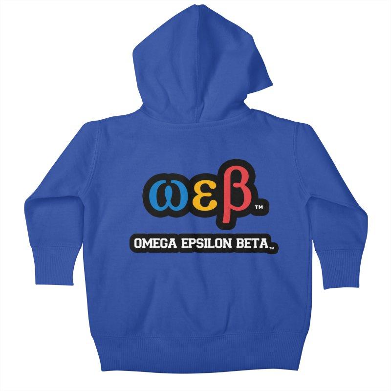 OMEGA EPSILON BETA™   omegaepsilonbeta.com Kids Baby Zip-Up Hoody by WebBadge Merch Shop