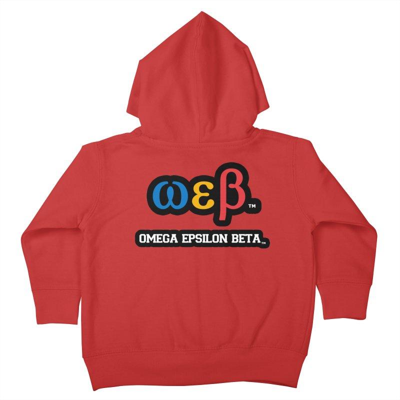 OMEGA EPSILON BETA™ | omegaepsilonbeta.com Kids Toddler Zip-Up Hoody by WebBadge Merch Shop