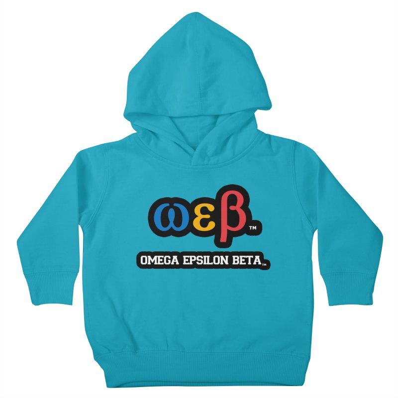 OMEGA EPSILON BETA™ | omegaepsilonbeta.com Kids Toddler Pullover Hoody by WebBadge Merch Shop