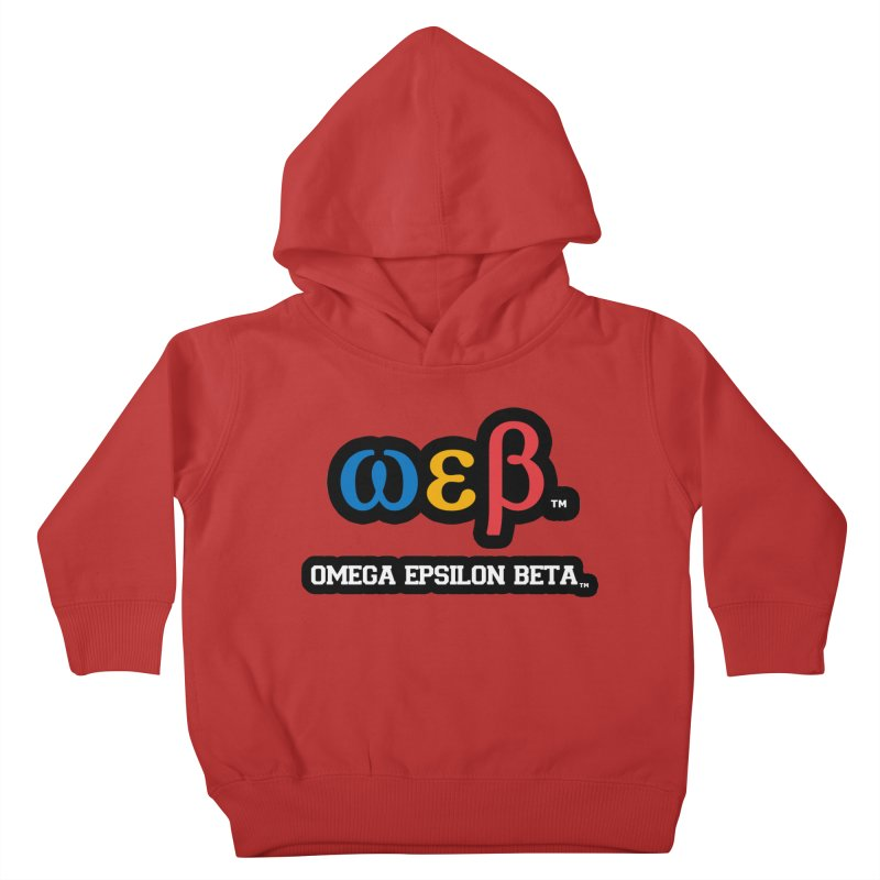 OMEGA EPSILON BETA™ | omegaepsilonbeta.com Kids Toddler Pullover Hoody by WebBadge Merch Shop