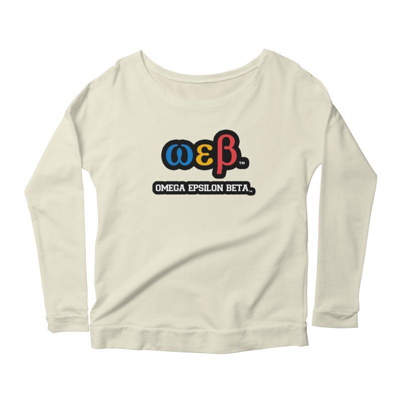 OMEGA EPSILON BETA™ | omegaepsilonbeta.com Women's Scoop Neck Longsleeve T-Shirt by WebBadge Merch Shop