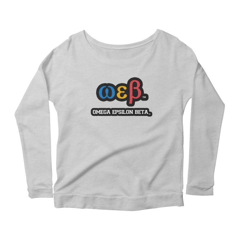 OMEGA EPSILON BETA™ | omegaepsilonbeta.com Women's Scoop Neck Longsleeve T-Shirt by WebBadge Merch Shop