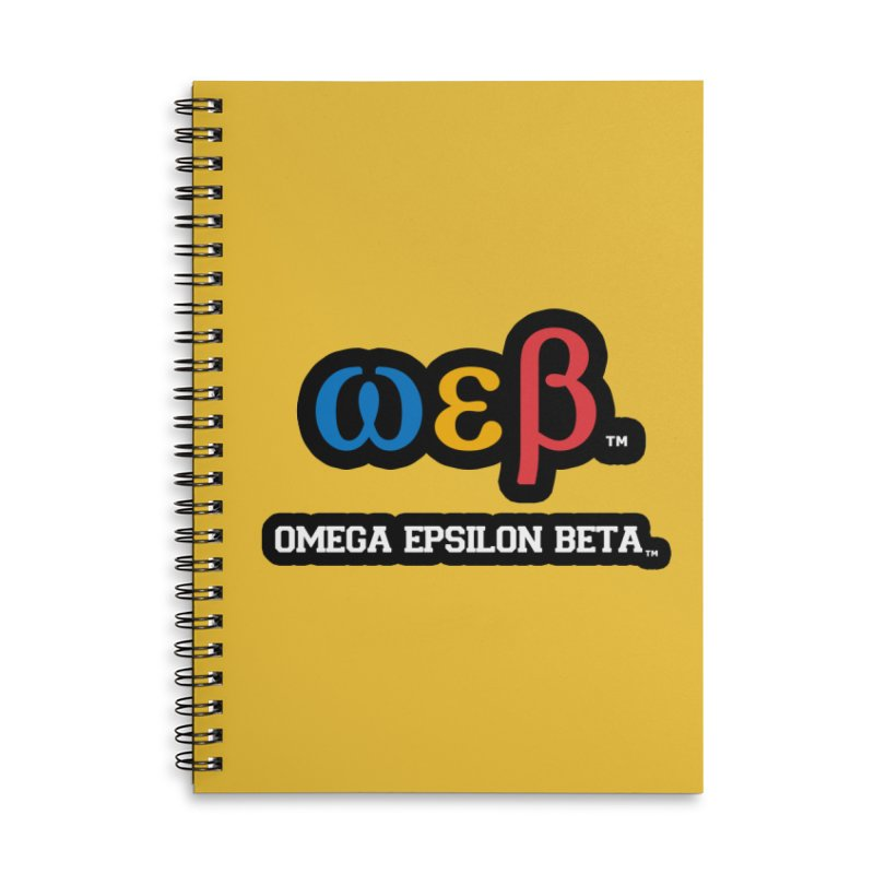 OMEGA EPSILON BETA™ | omegaepsilonbeta.com Accessories Lined Spiral Notebook by WebBadge Merch Shop