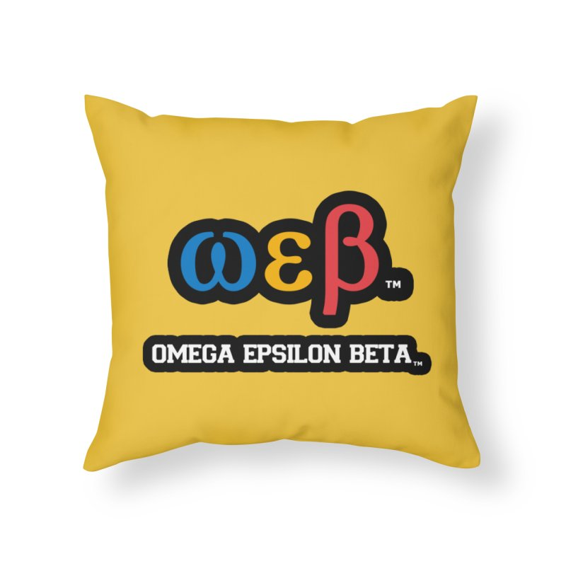 OMEGA EPSILON BETA™ | omegaepsilonbeta.com Home Throw Pillow by WebBadge Merch Shop
