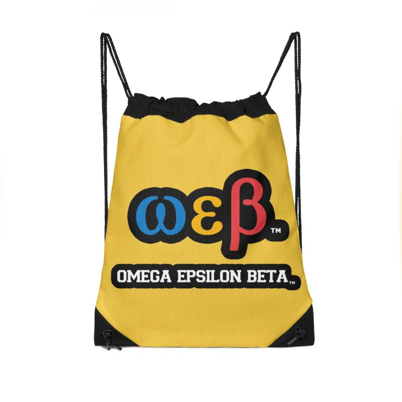 OMEGA EPSILON BETA™ | omegaepsilonbeta.com Accessories Drawstring Bag Bag by WebBadge Merch Shop