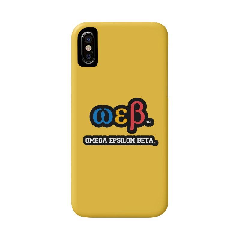 OMEGA EPSILON BETA™ | omegaepsilonbeta.com Accessories Phone Case by WebBadge Merch Shop