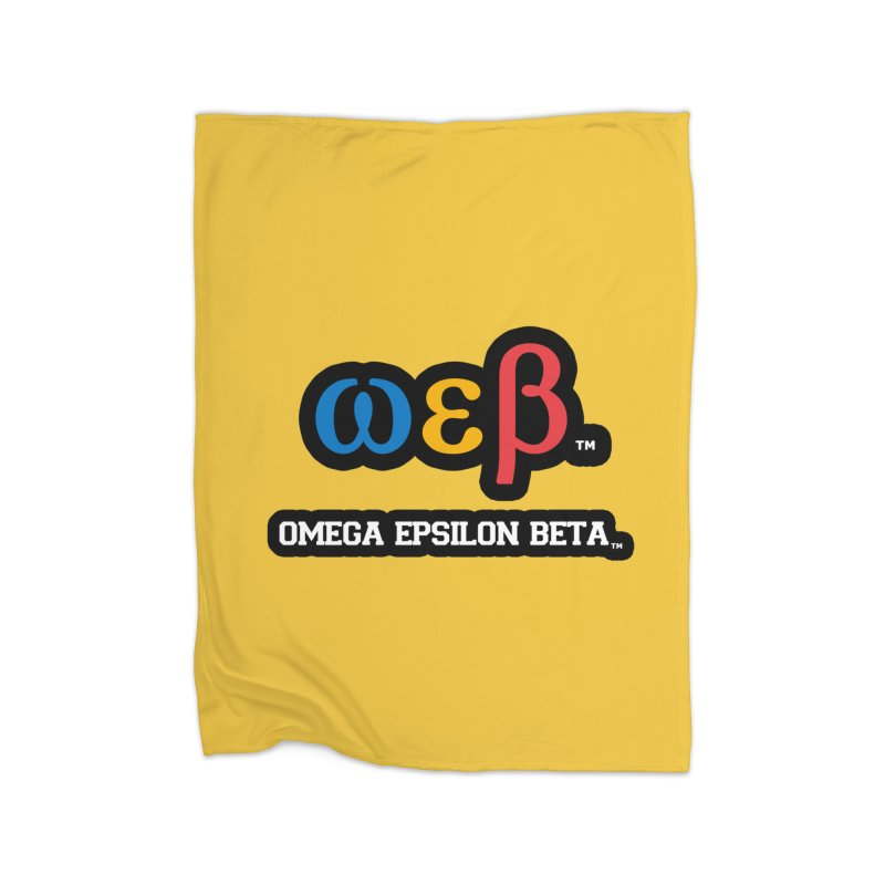 OMEGA EPSILON BETA™ | omegaepsilonbeta.com Home Fleece Blanket Blanket by WebBadge Merch Shop