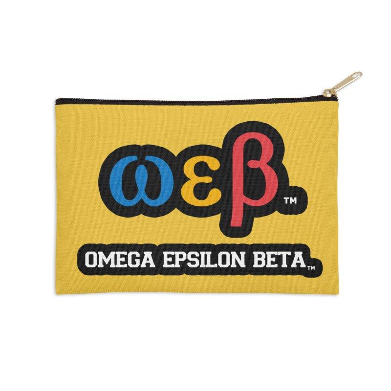 OMEGA EPSILON BETA™ | omegaepsilonbeta.com Accessories Zip Pouch by WebBadge Merch Shop