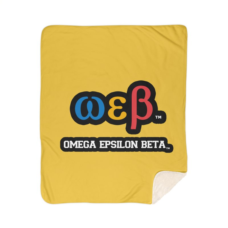 OMEGA EPSILON BETA™ | omegaepsilonbeta.com Home Sherpa Blanket Blanket by WebBadge Merch Shop