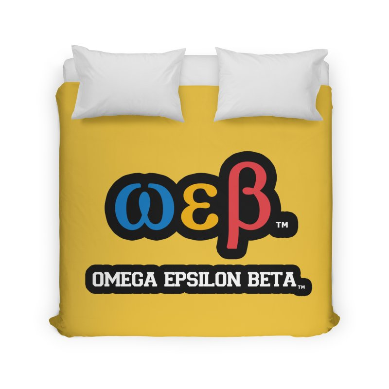 OMEGA EPSILON BETA™ | omegaepsilonbeta.com Home Duvet by WebBadge Merch Shop