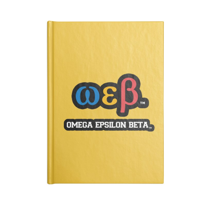 OMEGA EPSILON BETA™ | omegaepsilonbeta.com Accessories Notebook by WebBadge Merch Shop