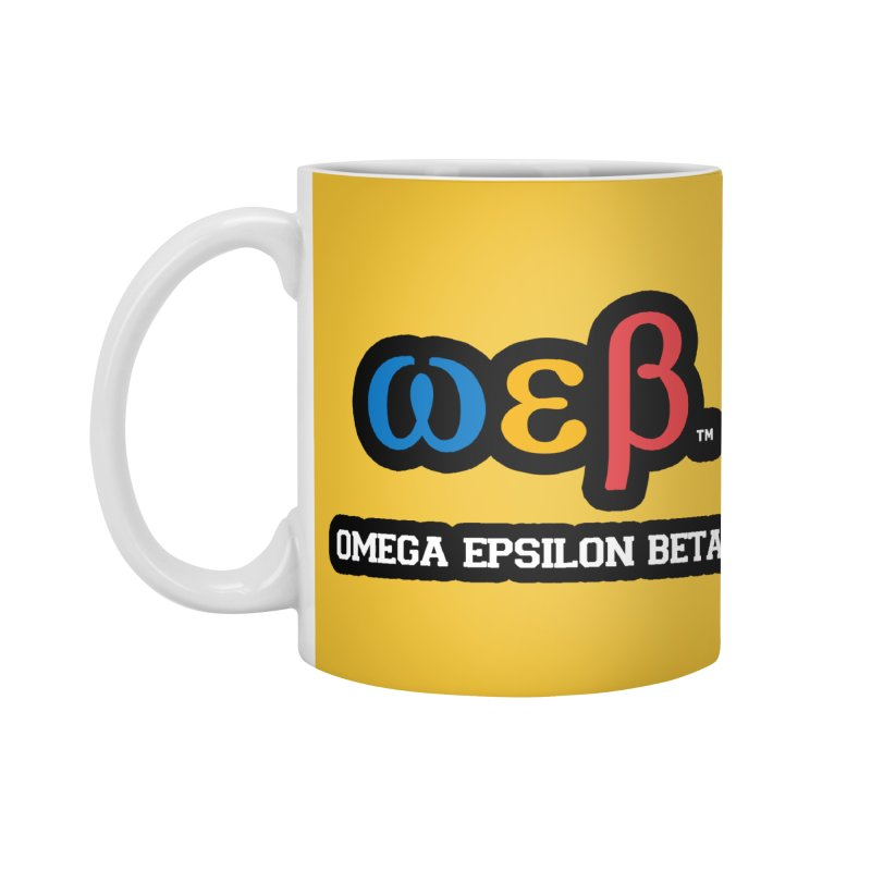 OMEGA EPSILON BETA™ | omegaepsilonbeta.com Accessories Standard Mug by WebBadge Merch Shop