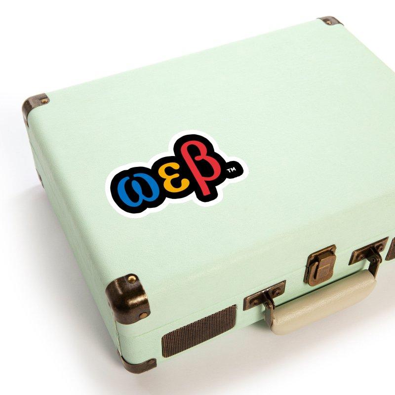 OMEGA EPSILON BETA™ Style 2 | omegaepsilonbeta.com Accessories Sticker by WebBadge Merch Shop