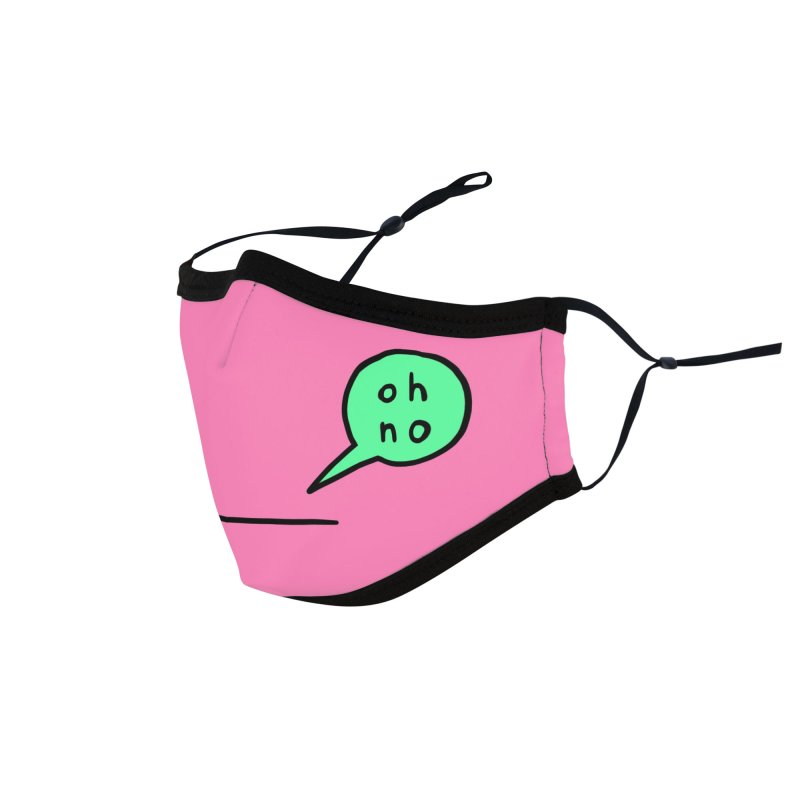 Pink Oh No Face Mask Accessories Face Mask by Oh No Face Masks