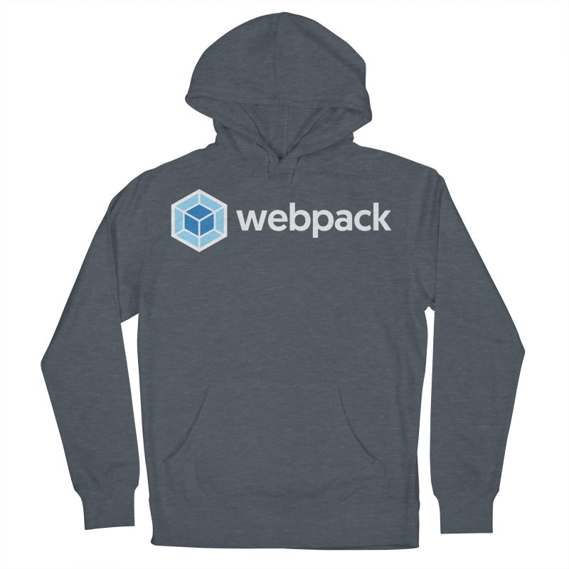 webpack named logo in Women's French Terry Pullover Hoody Heather Navy Denim by webpack developer outfitters