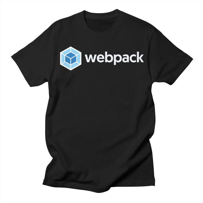 webpack named logo in Men's Regular T-Shirt Black by webpack developer outfitters