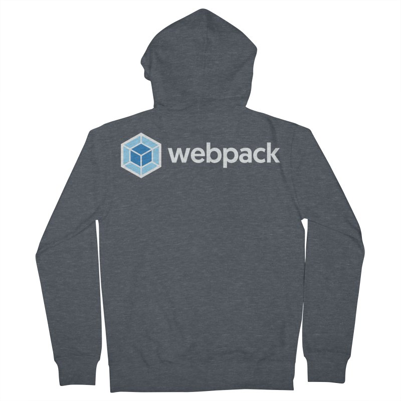 webpack named logo Men's Zip-Up Hoody by webpack developer outfitters