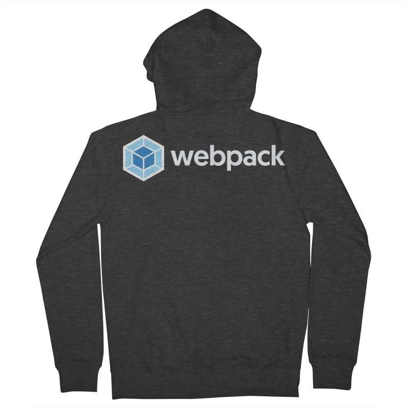 webpack named logo Men's French Terry Zip-Up Hoody by webpack developer outfitters