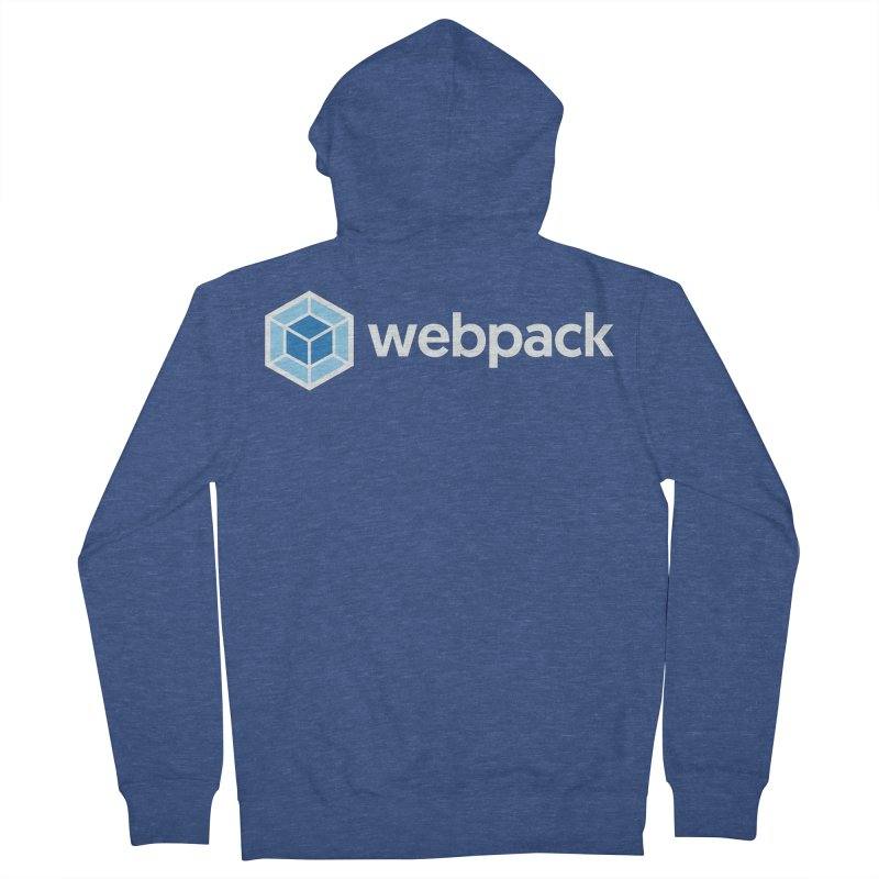 webpack named logo in Men's Zip-Up Hoody Heather Royal by webpack developer outfitters
