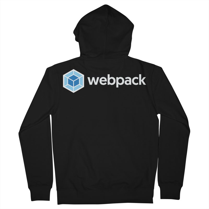 webpack named logo Men's Zip-Up Hoody by webpack developer outfitters