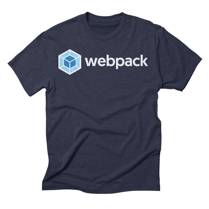 webpack named logo Men's Triblend T-Shirt by webpack developer outfitters