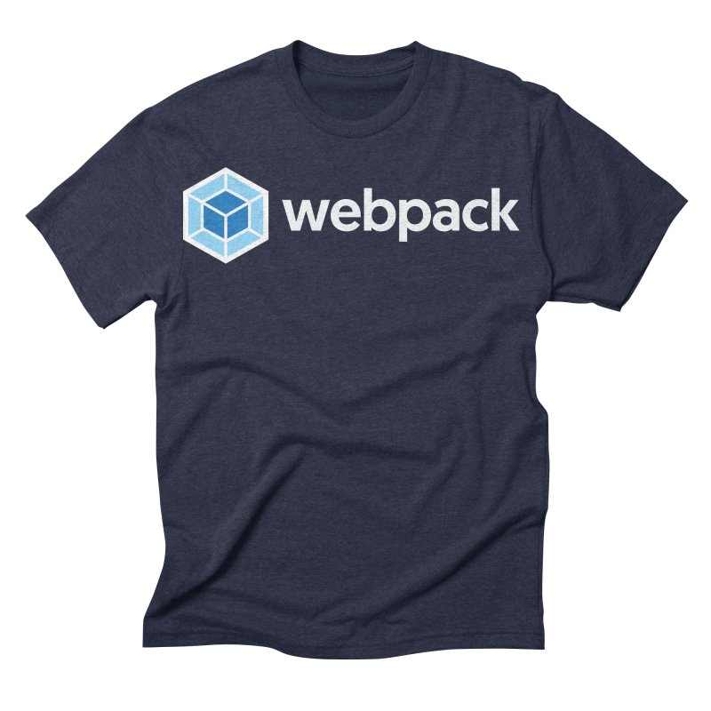 webpack named logo in Men's Triblend T-shirt Navy by webpack developer outfitters