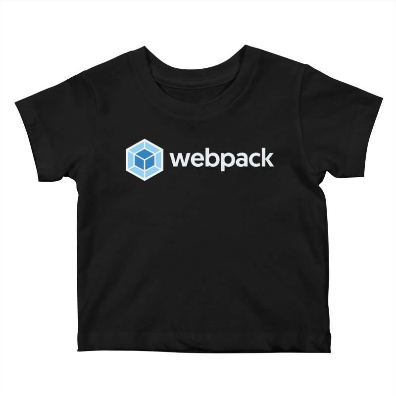 webpack named logo Kids Baby T-Shirt by webpack developer outfitters