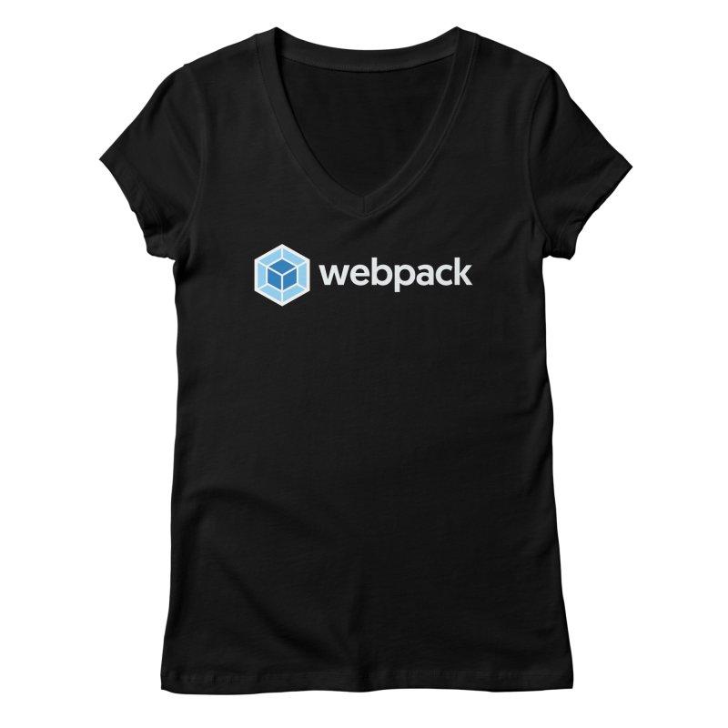 webpack named logo Women's V-Neck by webpack developer outfitters