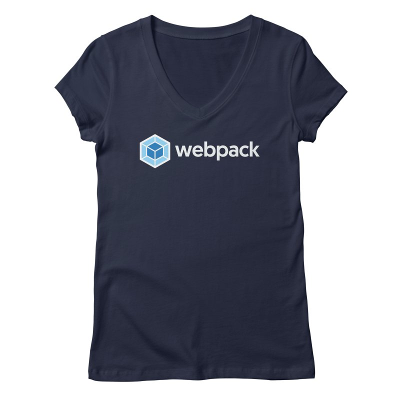 webpack named logo in Women's Regular V-Neck Navy by webpack developer outfitters