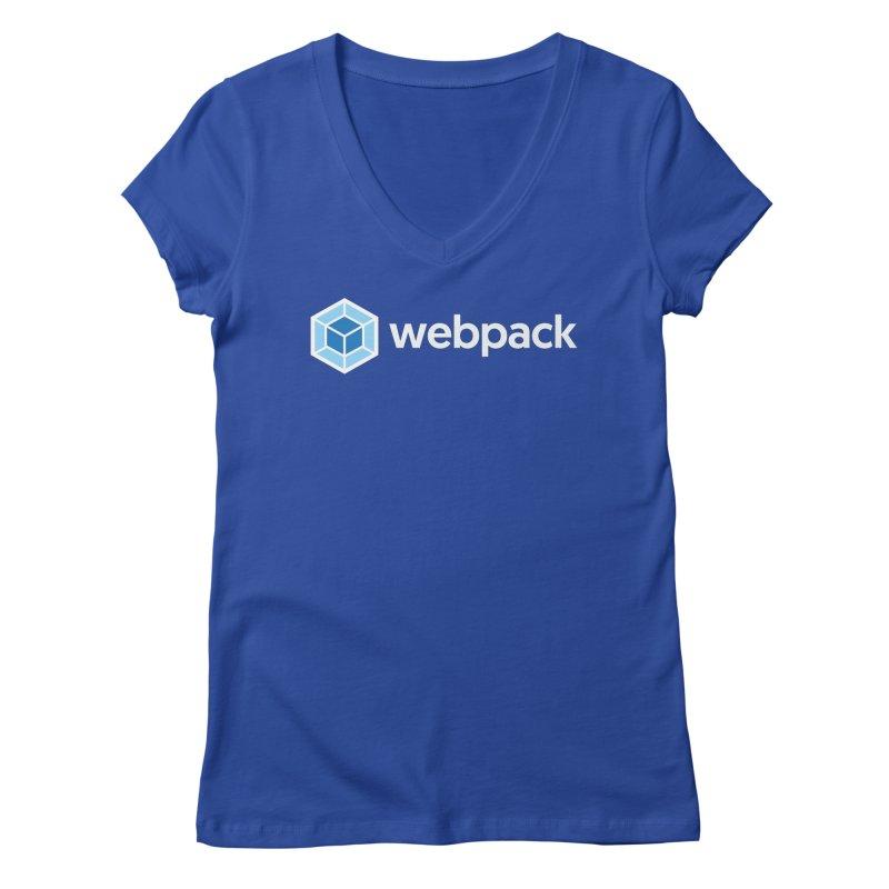 webpack named logo Women's Regular V-Neck by webpack developer outfitters