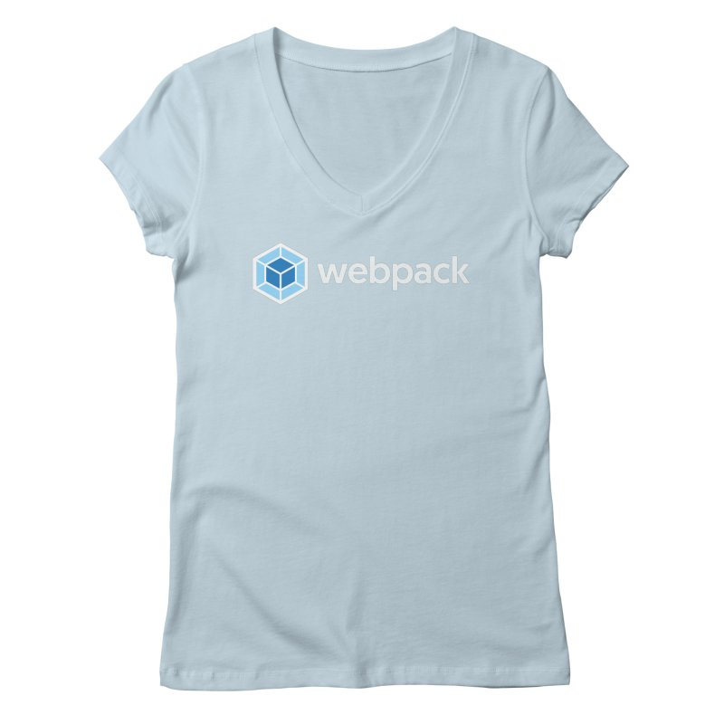 webpack named logo Women's Regular V-Neck by webpack developer outfitters